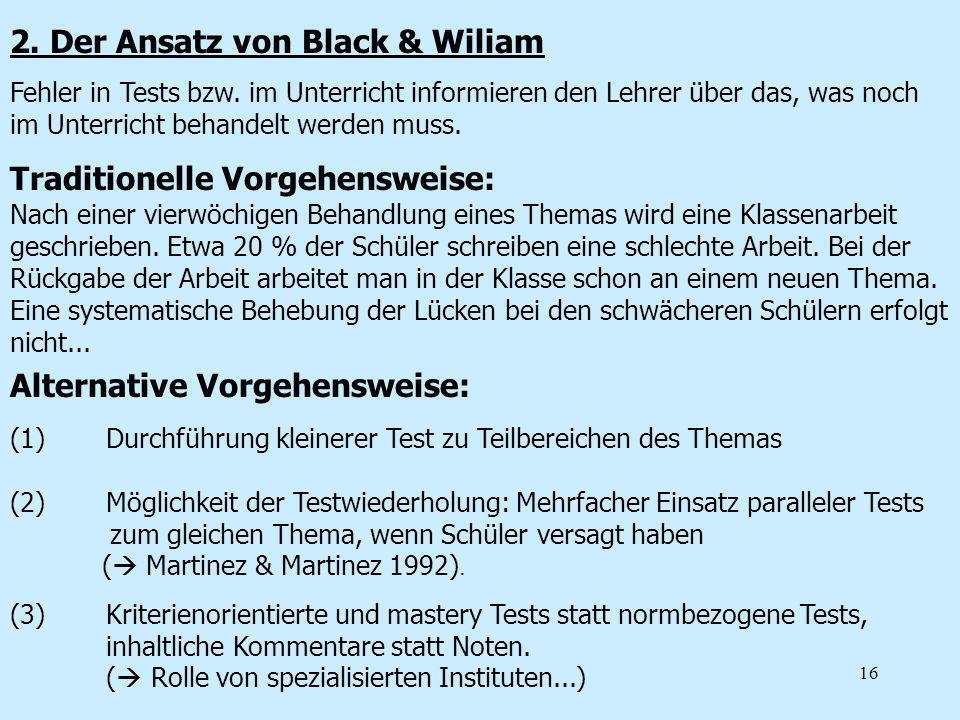 2. Der Ansatz von Black & Wiliam