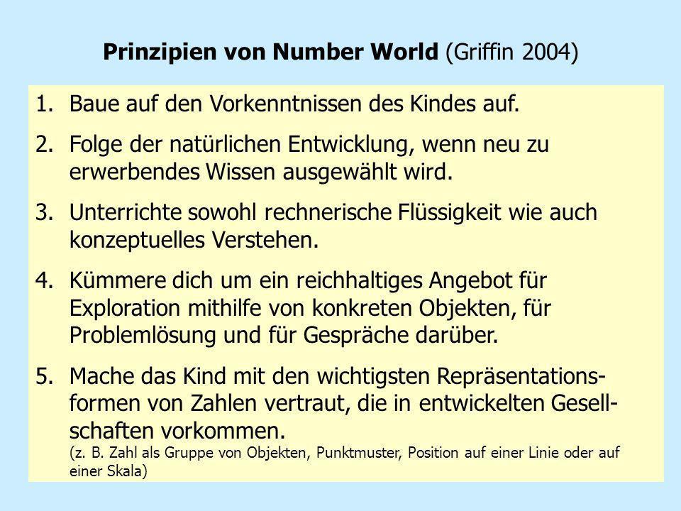 Prinzipien von Number World (Griffin 2004)