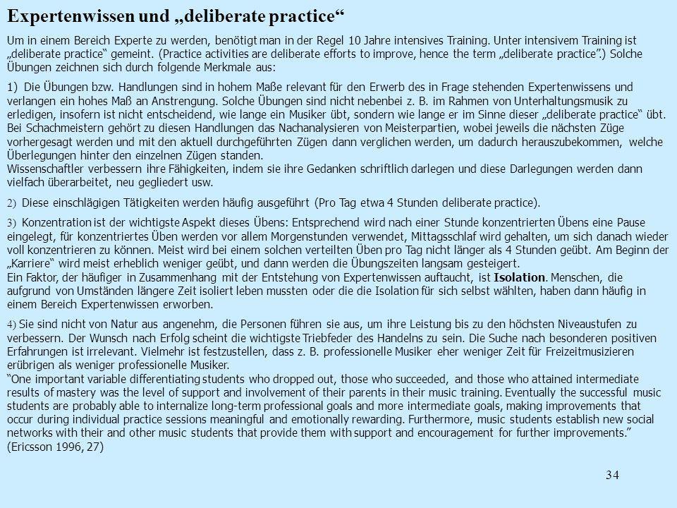 "Expertenwissen und ""deliberate practice"