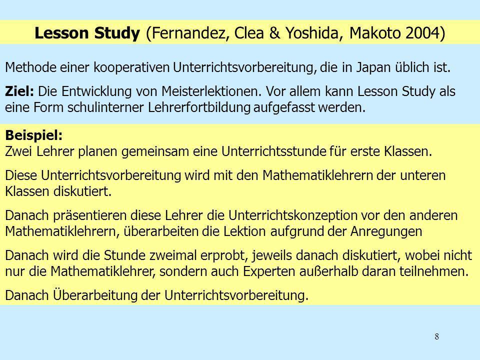 Lesson Study (Fernandez, Clea & Yoshida, Makoto 2004)