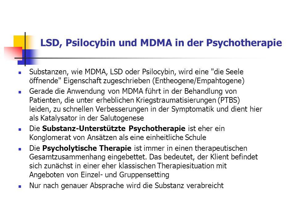 LSD, Psilocybin und MDMA in der Psychotherapie