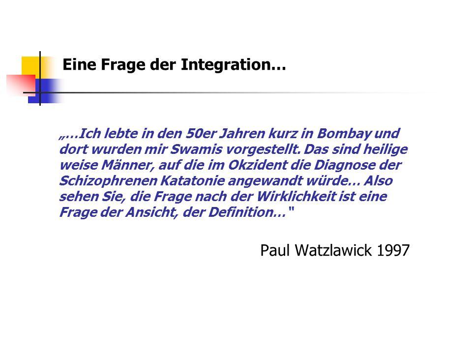 Eine Frage der Integration…