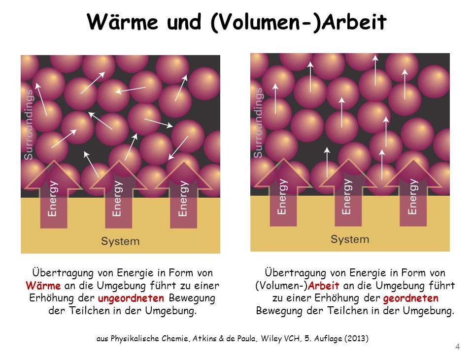 Wärme und (Volumen-)Arbeit