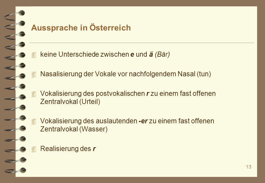 Aussprache in Österreich