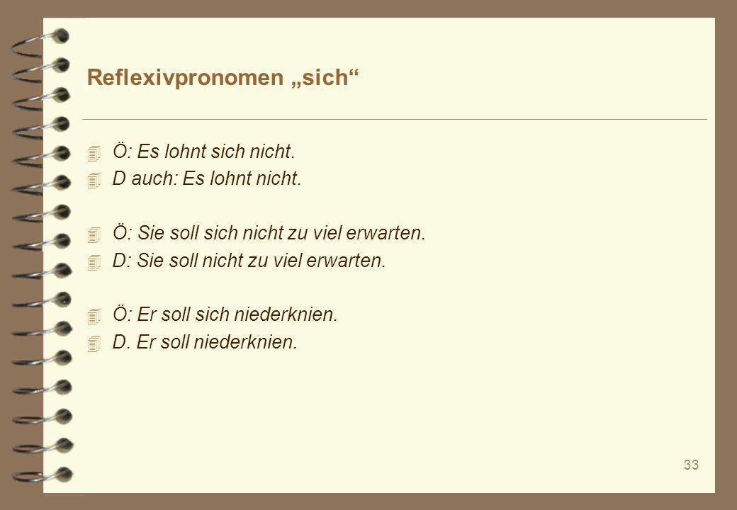 """Reflexivpronomen """"sich"""