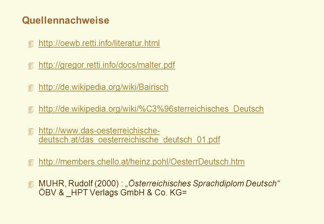 Quellennachweise http://oewb.retti.info/literatur.html