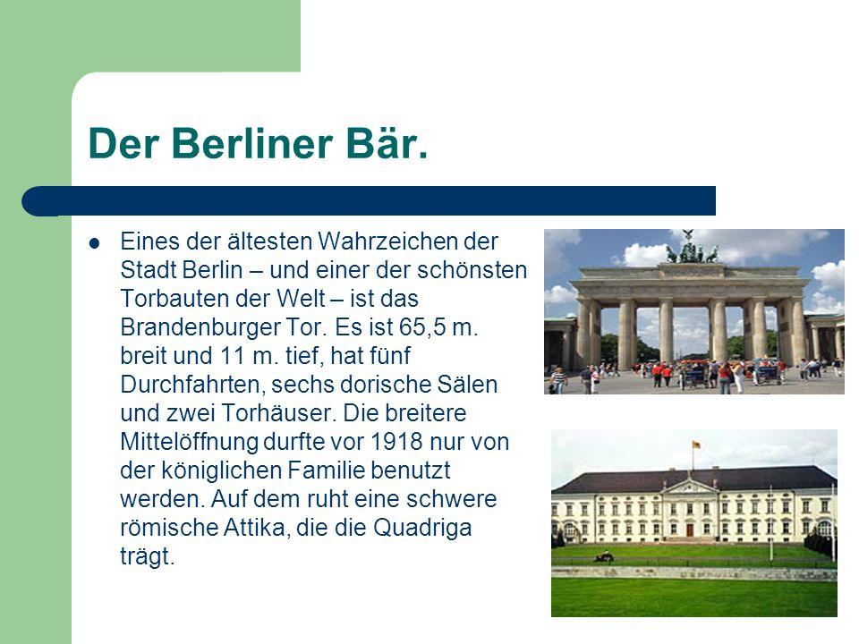 Der Berliner Bär.