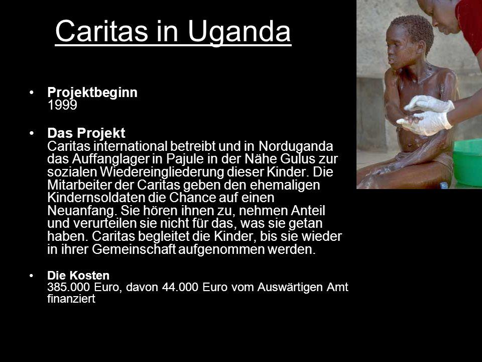 Caritas in Uganda Projektbeginn 1999.
