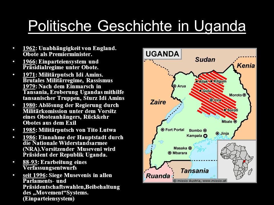 Politische Geschichte in Uganda