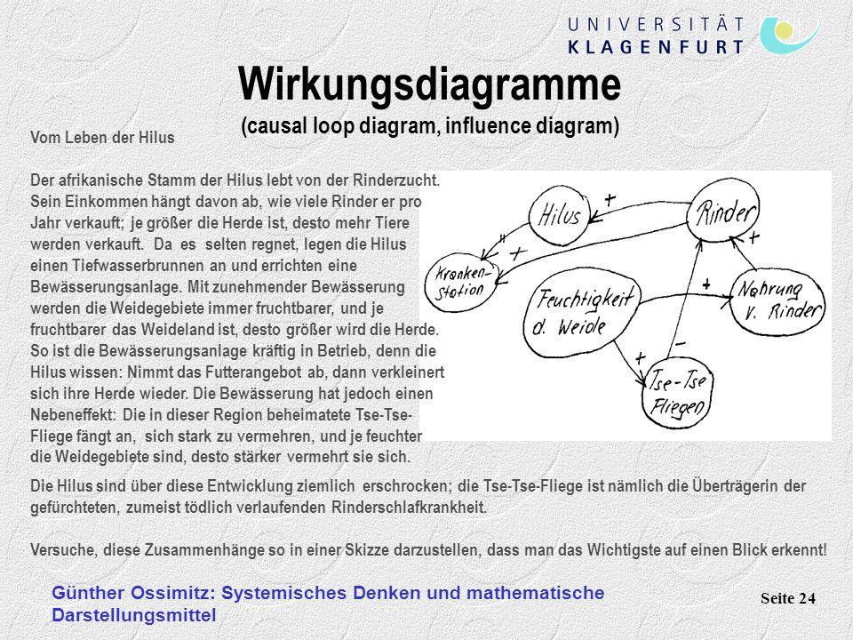 Wirkungsdiagramme (causal loop diagram, influence diagram)
