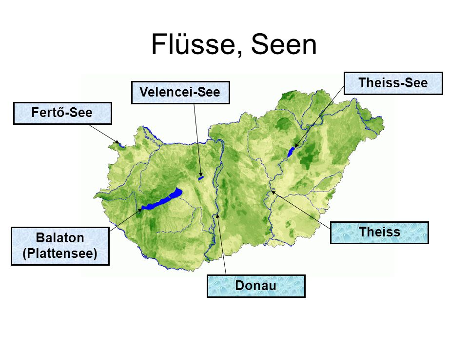 Flüsse, Seen Theiss-See Velencei-See Fertő-See Theiss