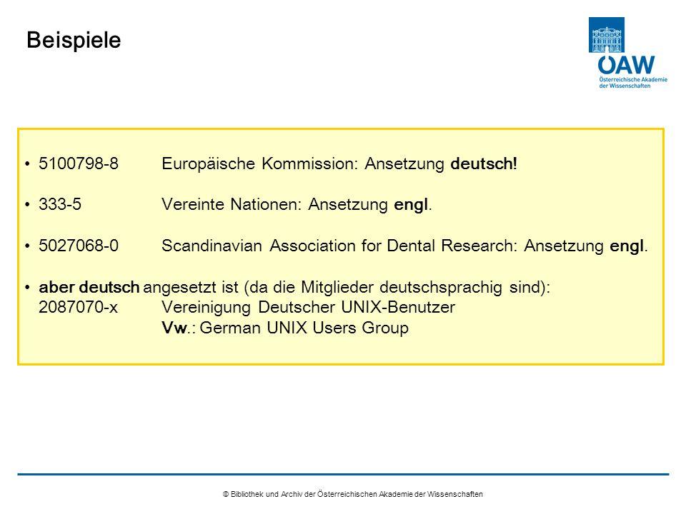 Beispiele 5100798-8 Europäische Kommission: Ansetzung deutsch!