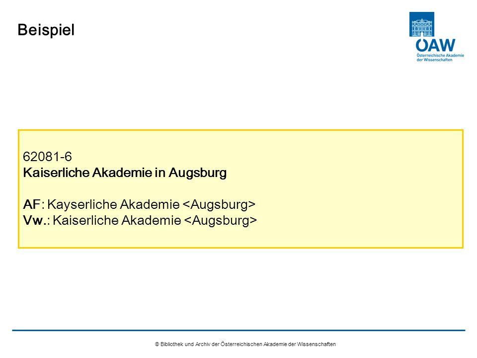 Beispiel 62081-6 Kaiserliche Akademie in Augsburg