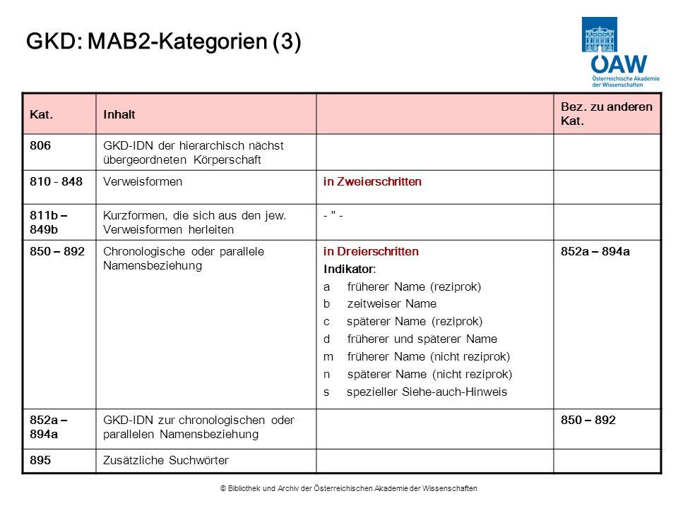 GKD: MAB2-Kategorien (3)