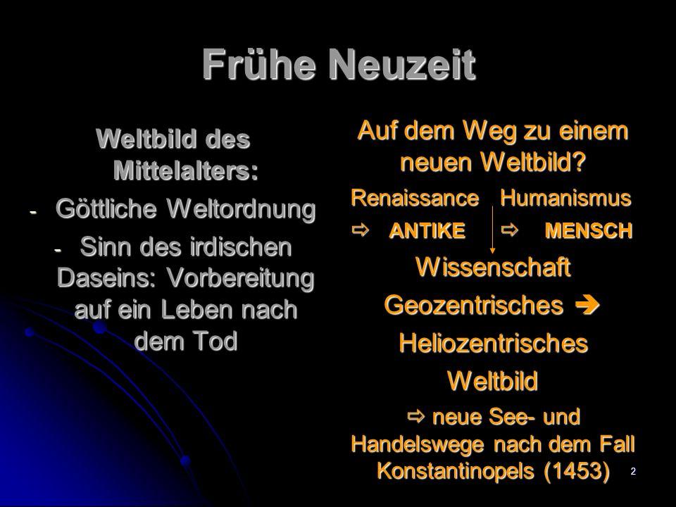 Weltbild des Mittelalters: