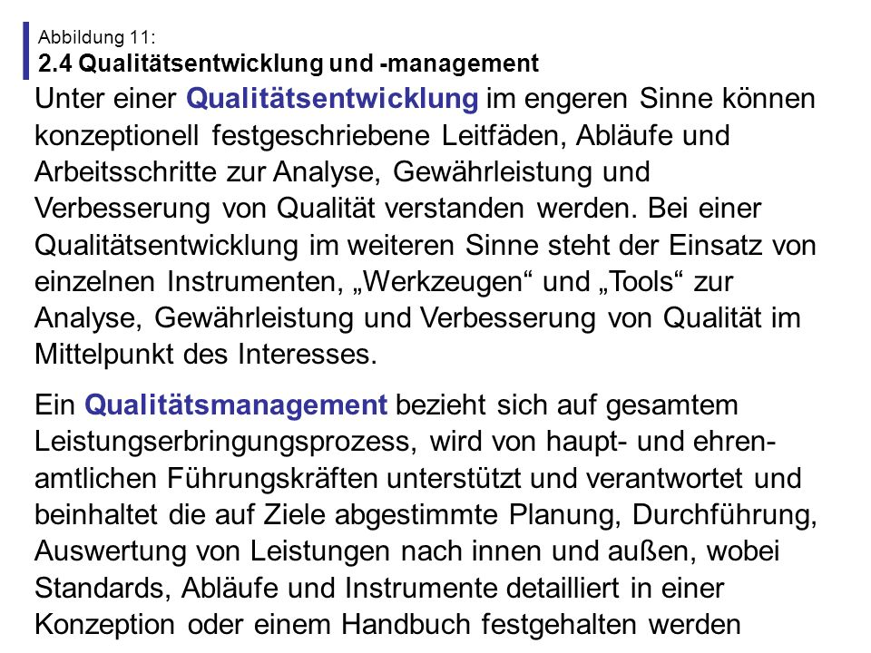 Abbildung 11: 2.4 Qualitätsentwicklung und -management
