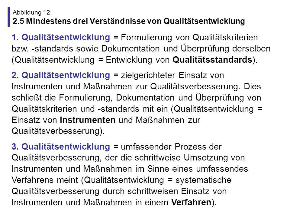 Abbildung 12: 2.5 Mindestens drei Verständnisse von Qualitätsentwicklung