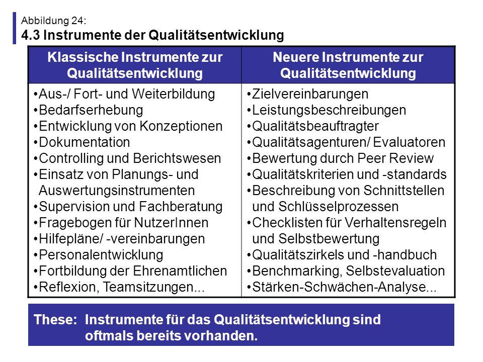 Abbildung 24: 4.3 Instrumente der Qualitätsentwicklung