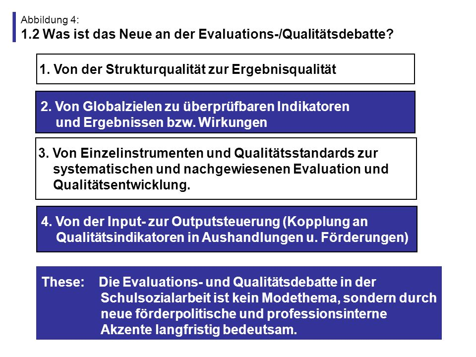 1. Von der Strukturqualität zur Ergebnisqualität