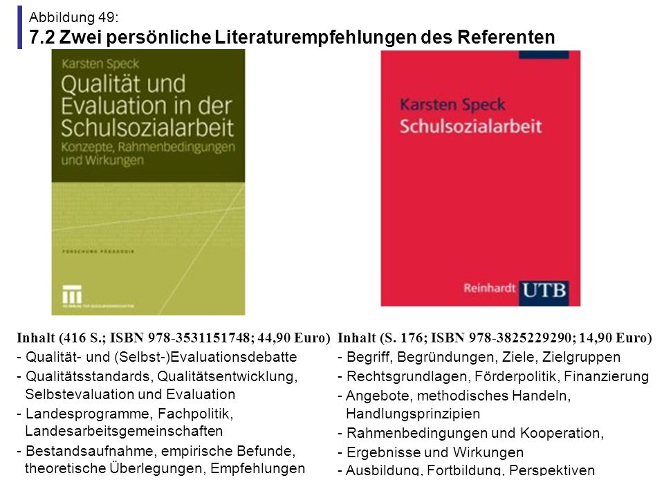 Abbildung 49: 7.2 Zwei persönliche Literaturempfehlungen des Referenten