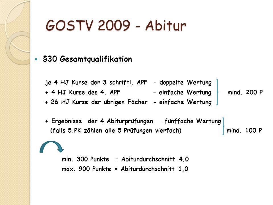 GOSTV 2009 - Abitur §30 Gesamtqualifikation