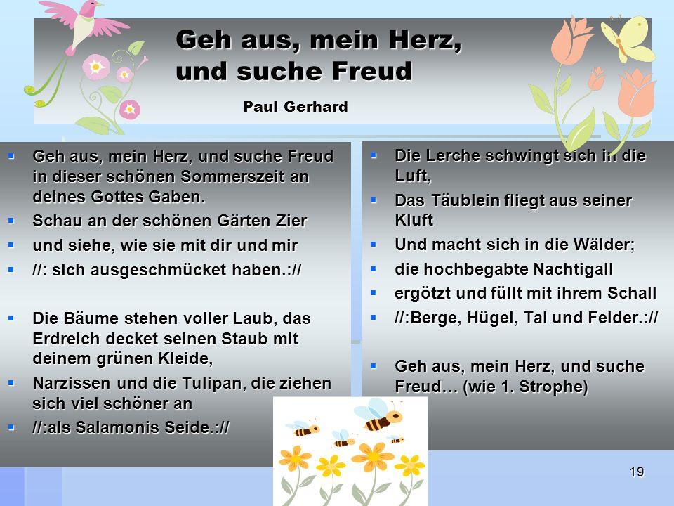 Geh aus, mein Herz, und suche Freud Paul Gerhard