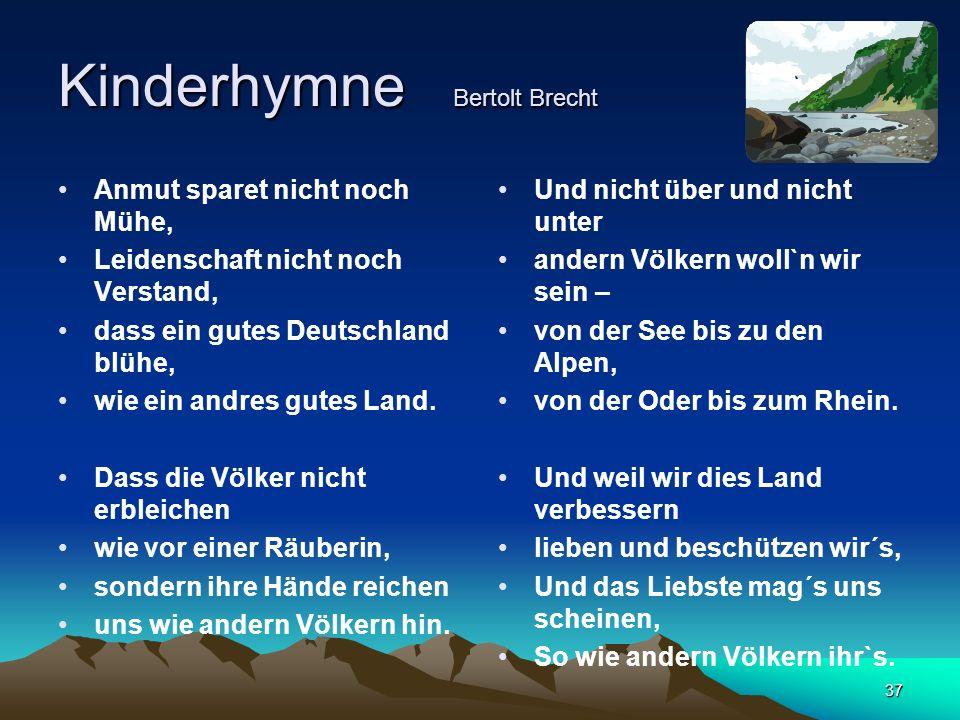 Kinderhymne Bertolt Brecht
