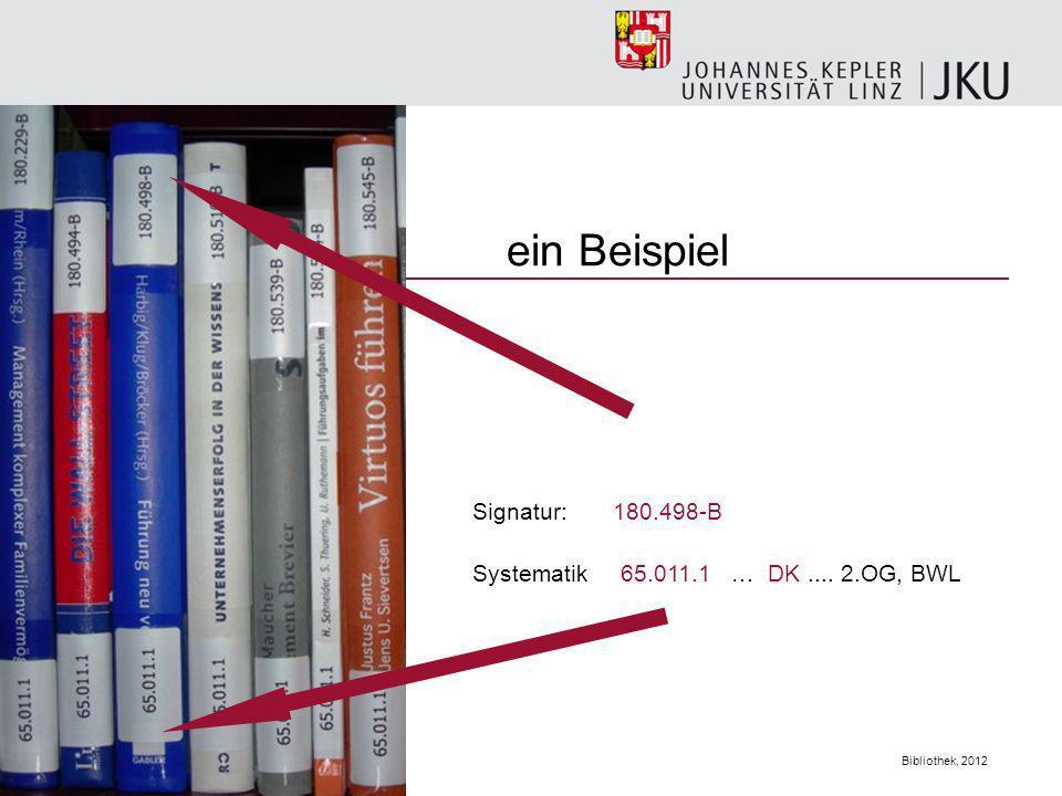 ein Beispiel Signatur: 180.498-B