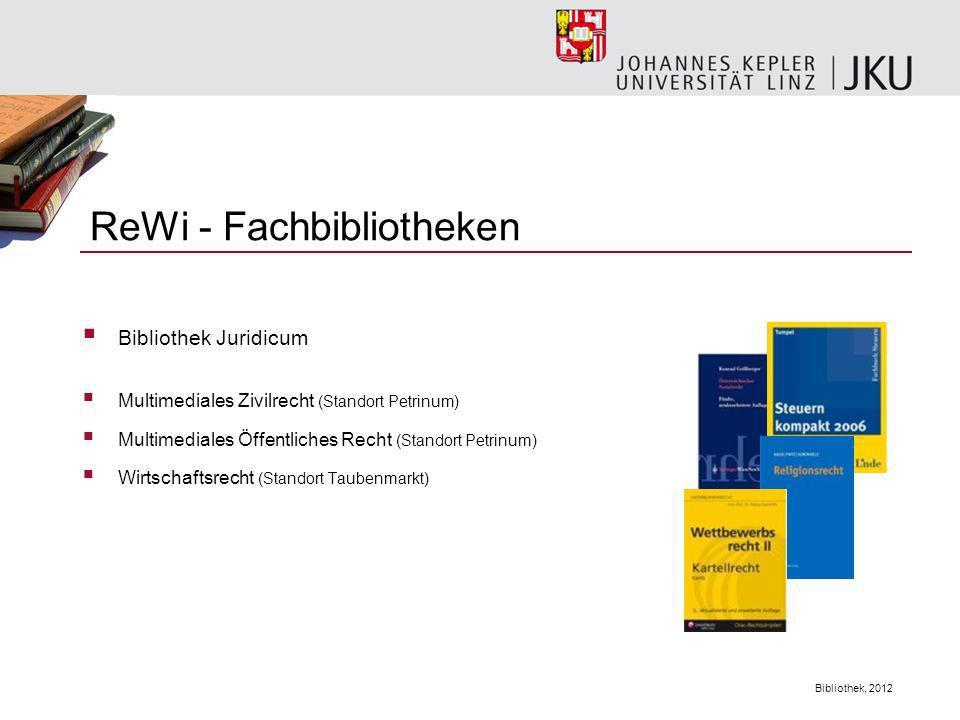 ReWi - Fachbibliotheken