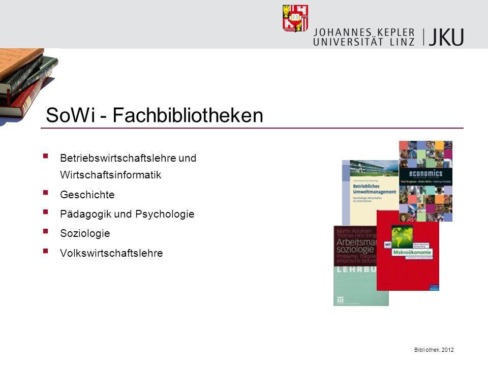 SoWi - Fachbibliotheken