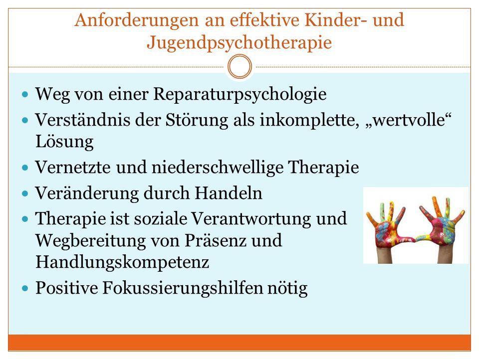Anforderungen an effektive Kinder- und Jugendpsychotherapie