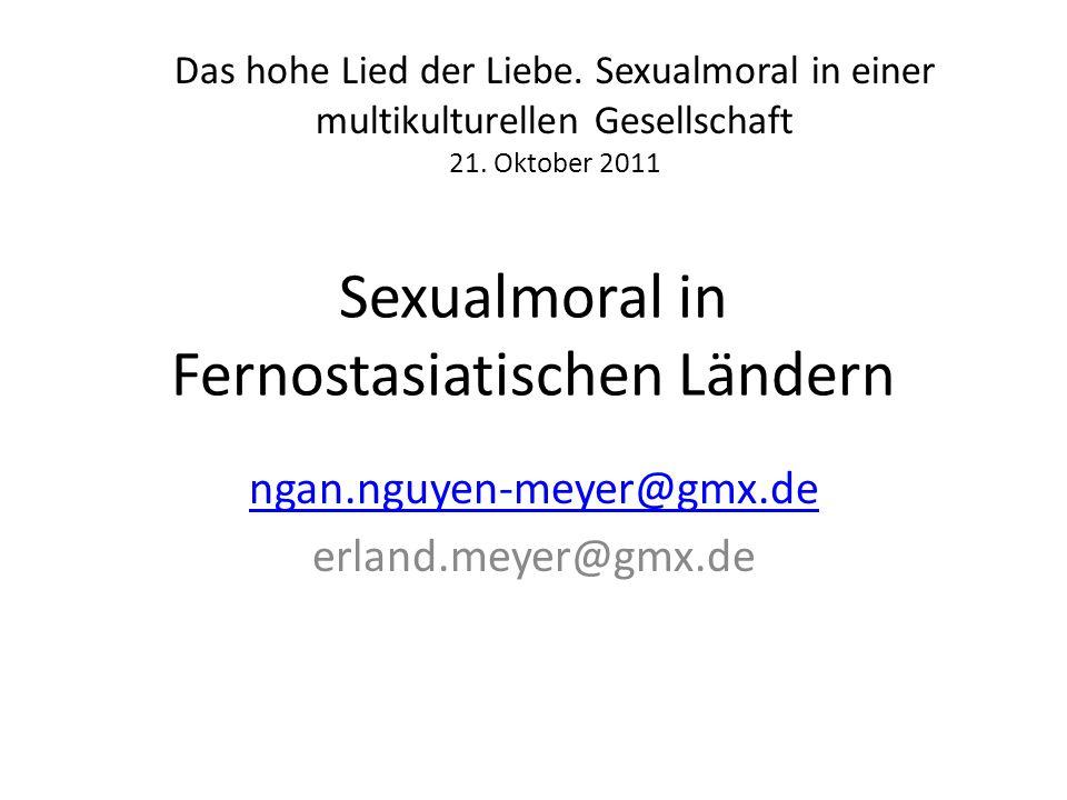 Sexualmoral in Fernostasiatischen Ländern