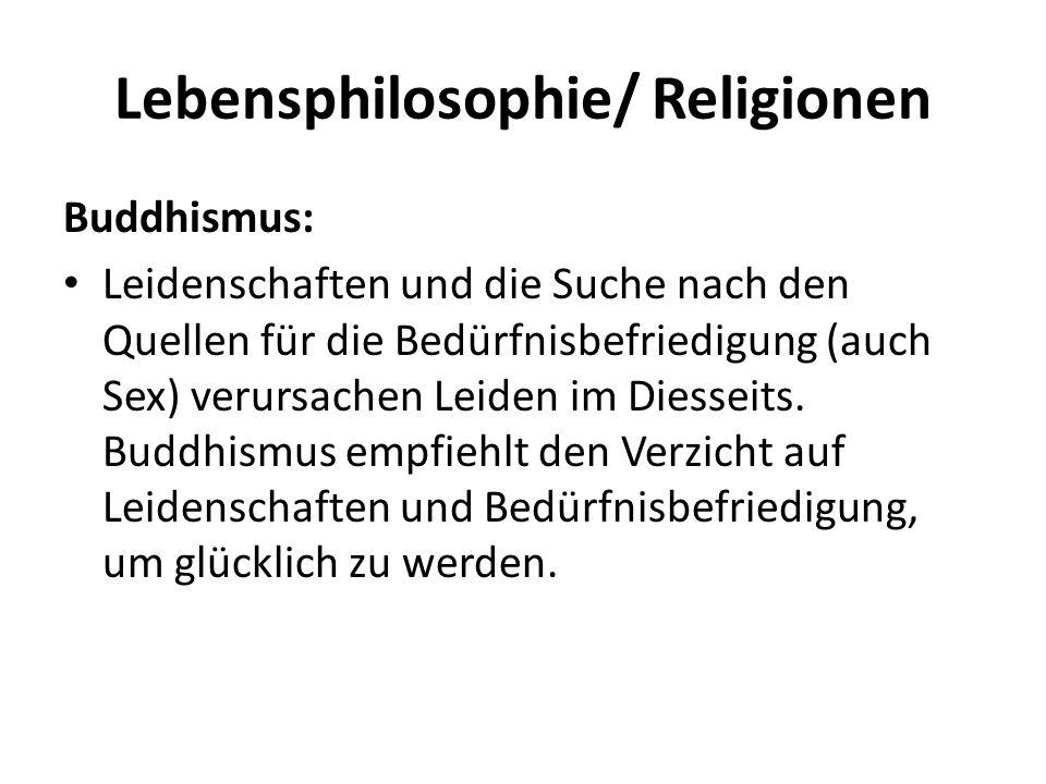 Lebensphilosophie/ Religionen