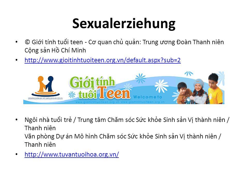 Sexualerziehung © Giới tính tuổi teen - Cơ quan chủ quản: Trung ương Đoàn Thanh niên Cộng sản Hồ Chí Minh.