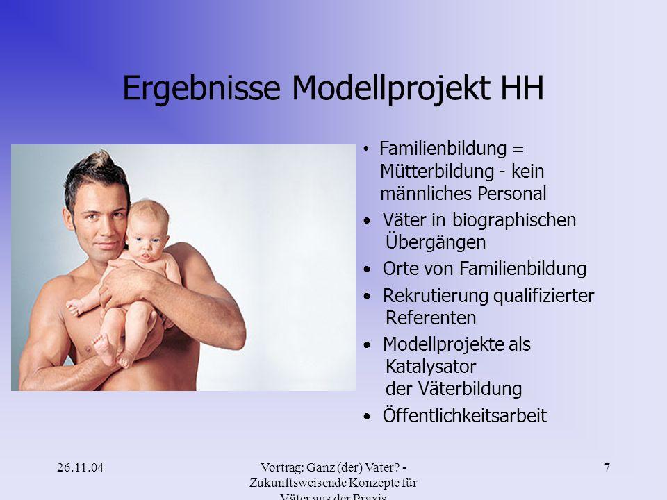 Ergebnisse Modellprojekt HH