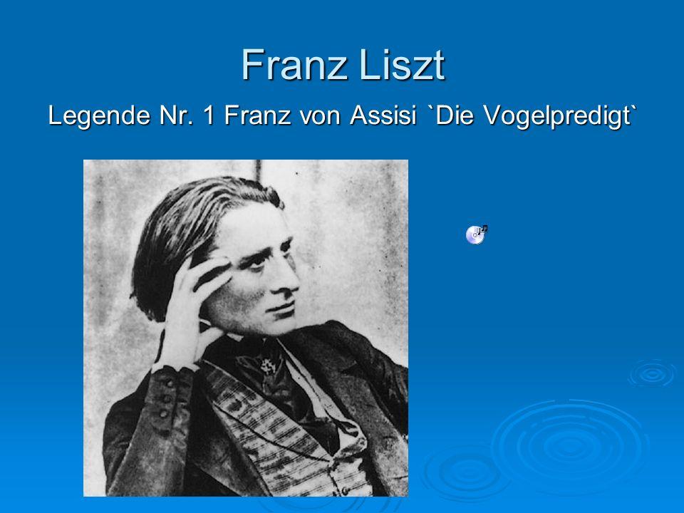 Legende Nr. 1 Franz von Assisi `Die Vogelpredigt`
