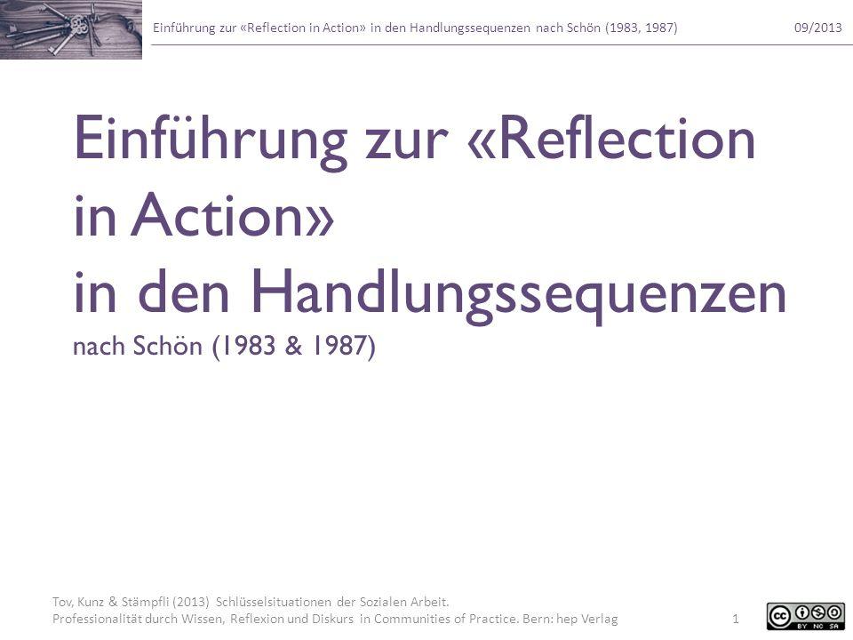 Einführung zur «Reflection in Action» in den Handlungssequenzen