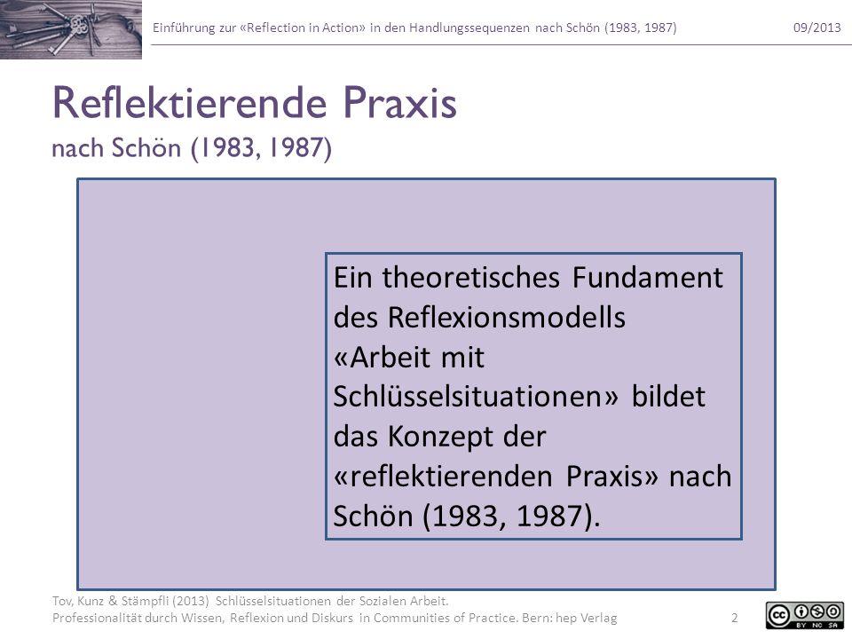 Reflektierende Praxis nach Schön (1983, 1987)