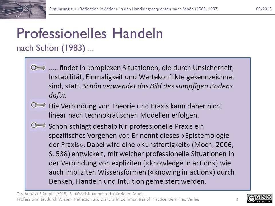 Professionelles Handeln nach Schön (1983) ...