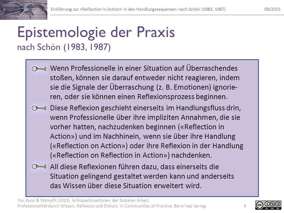 Epistemologie der Praxis nach Schön (1983, 1987)