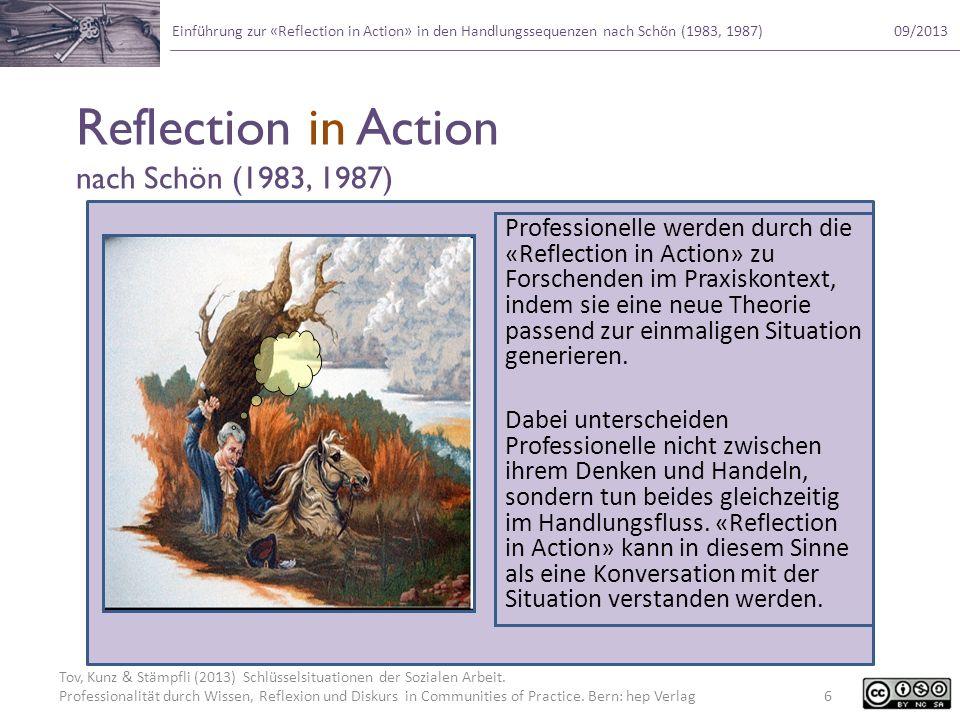 Reflection in Action nach Schön (1983, 1987)
