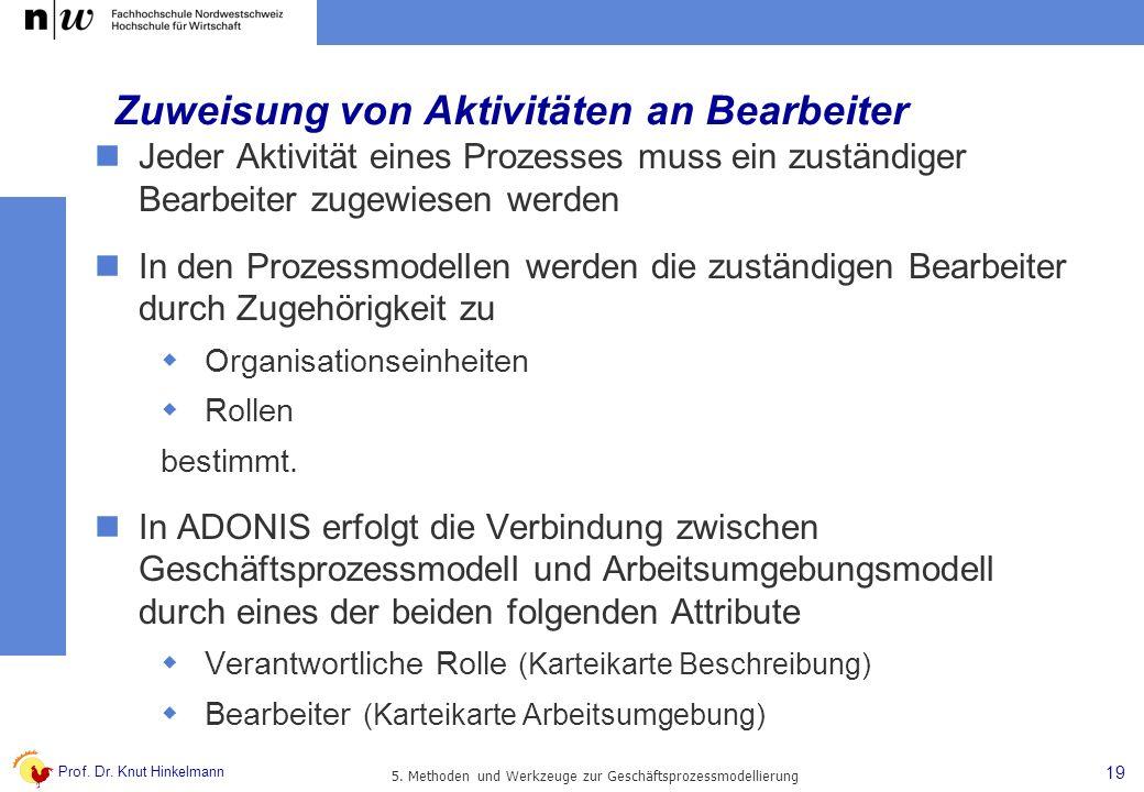 Zuweisung von Aktivitäten an Bearbeiter