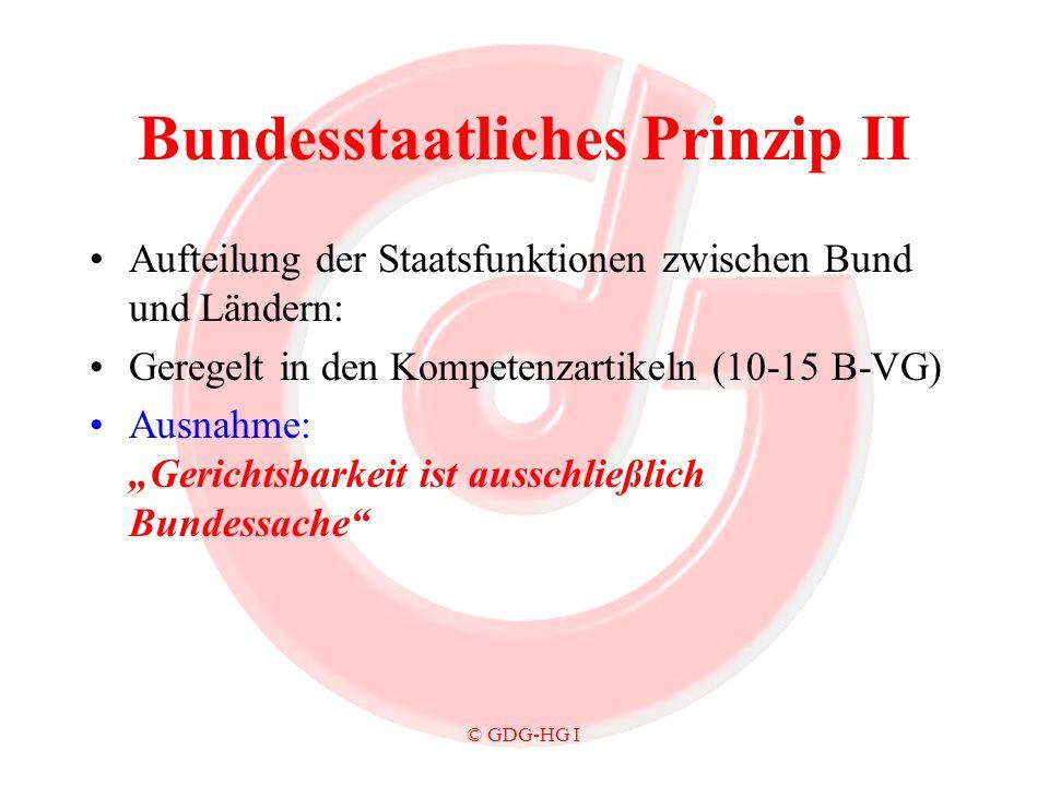 Bundesstaatliches Prinzip II