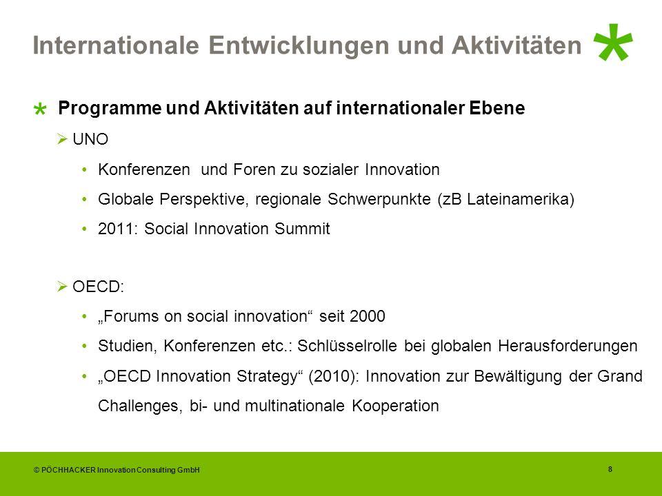 Internationale Entwicklungen und Aktivitäten