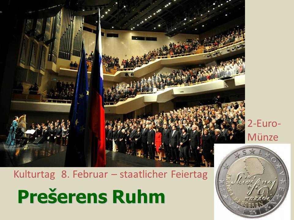 Prešerens Ruhm 2-Euro-Münze