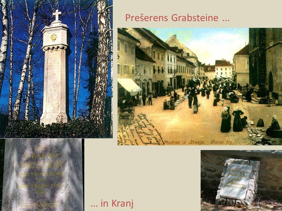 Prešerens Grabsteine ... … in Kranj