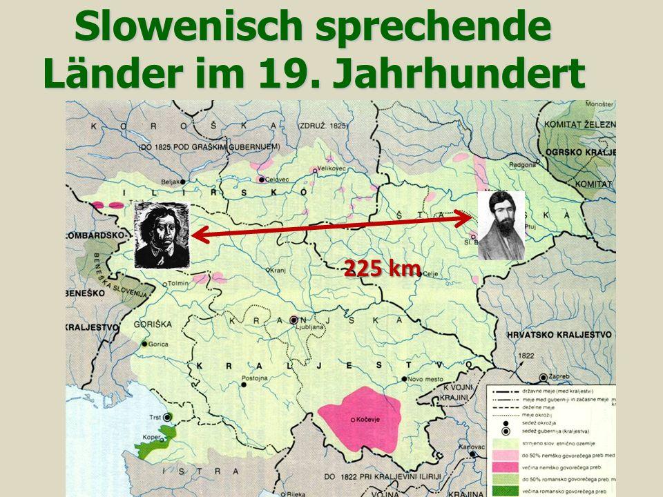 Slowenisch sprechende Länder im 19. Jahrhundert