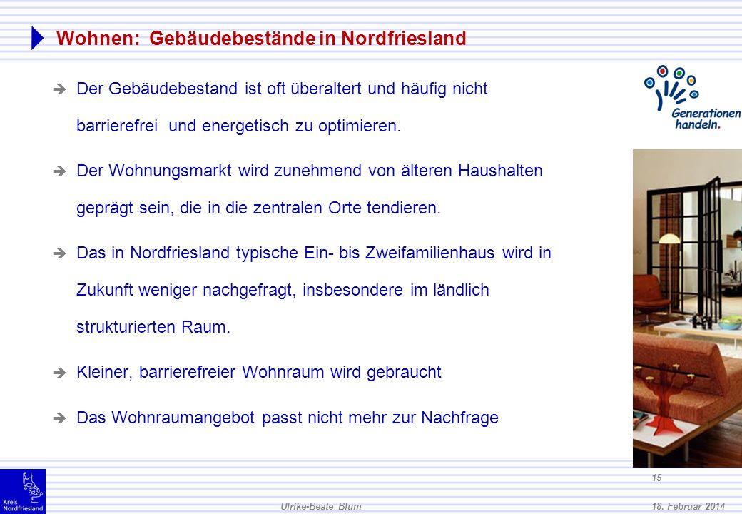 Wohnen: Gebäudebestände in Nordfriesland