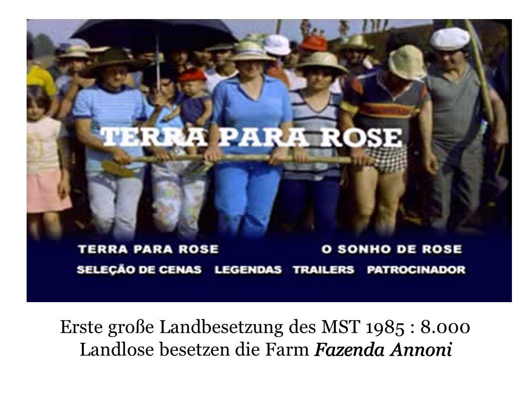 Erste große Landbesetzung des MST 1985 : 8
