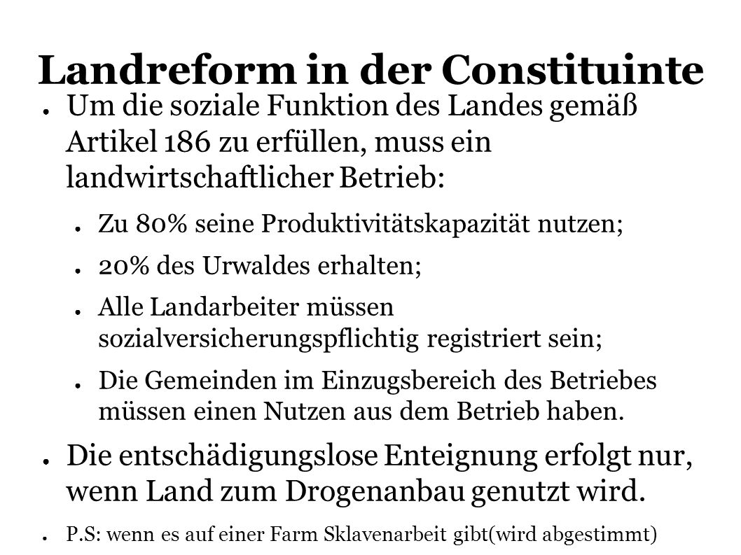Landreform in der Constituinte